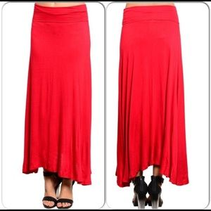 Dresses & Skirts - Red Maxi Skirt